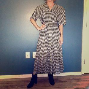 Vintage Ms.Claus Full Length Gingham Dress
